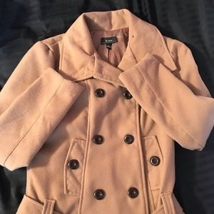 Beautiful Camel colored Winter Coat with a belt